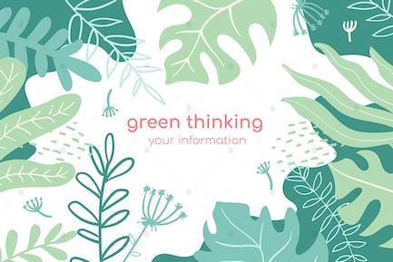 Green Thinking bunte Banner