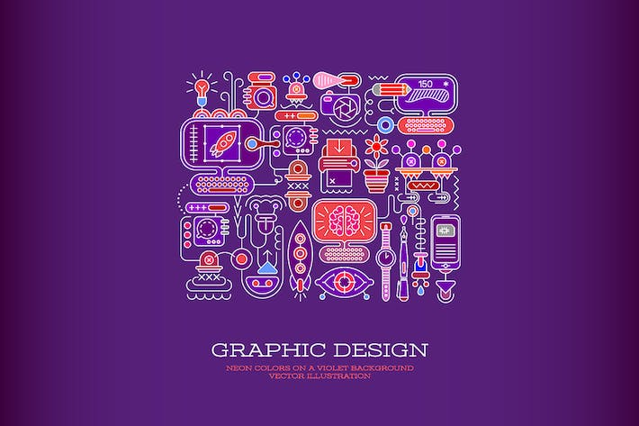 Thumbnail for Graphic Design vector illustration