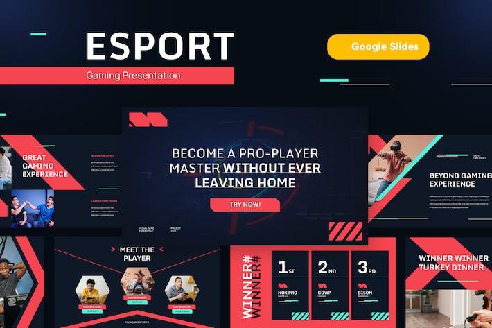 ESPORT - Игровой и технологический Шаблон слайдов Googel