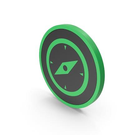 Icon Compass Green