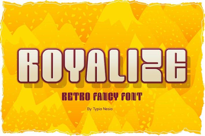 Thumbnail for Royalize - Fun Fancy Font