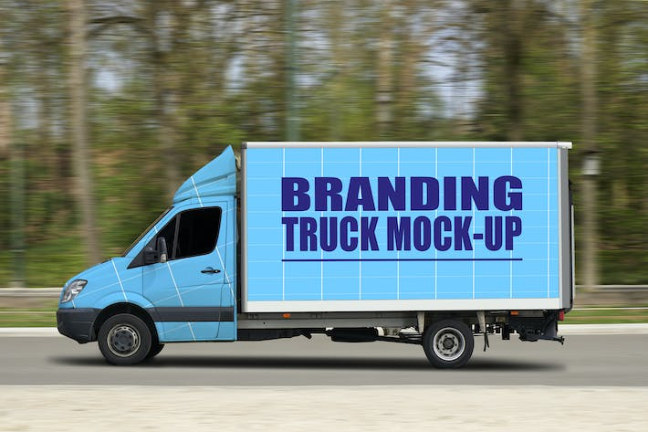 Thumbnail for Truck in motion-Mockup