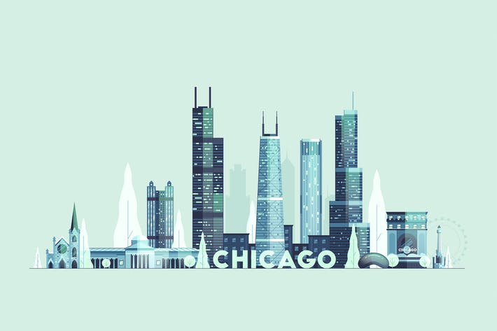 Thumbnail for Chicago skyline, USA