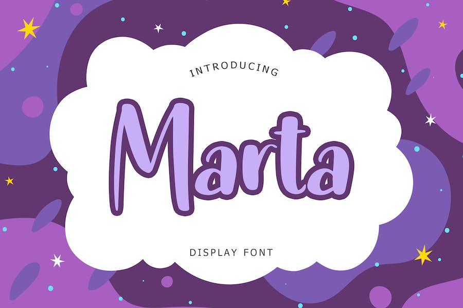 Marta Display Font
