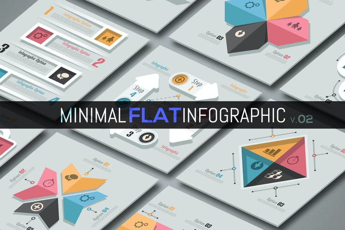 Thumbnail for Minimale flache Infografiken v.02