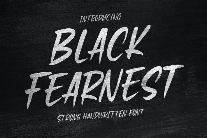 Thumbnail for Black Fearnest - Strong Handwritten Font
