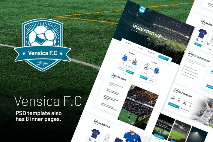 Thumbnail for Vensica FC - Football Club Creative PSD Template
