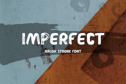 Imperfect Brush Font