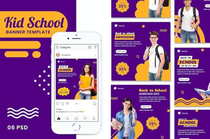 Thumbnail for Back to School Banner Instagram Stories