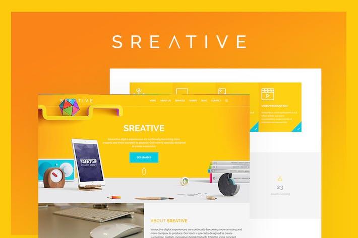 Thumbnail for Sreative | Agence numérique HTML modèle