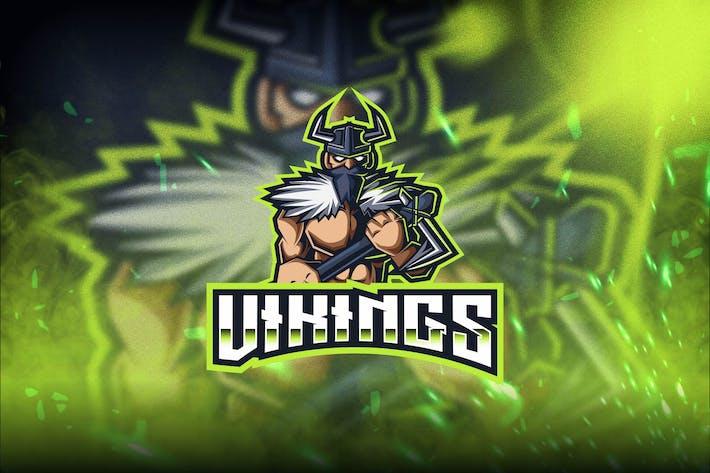 Vikings Esport Logo Template