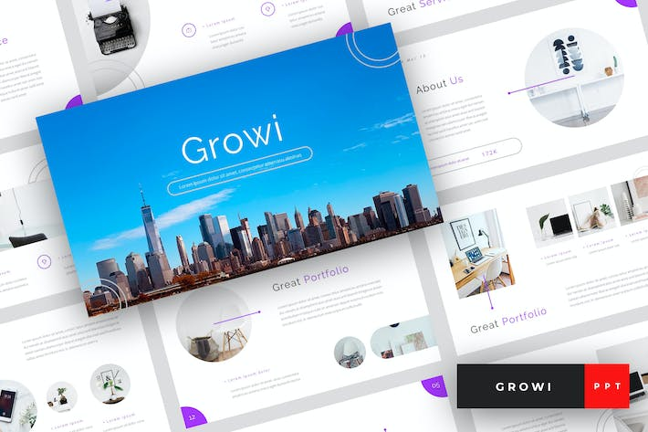 Thumbnail for Growi - Business PowerPoint Template