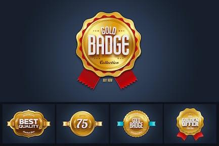 Gold Sale Badges