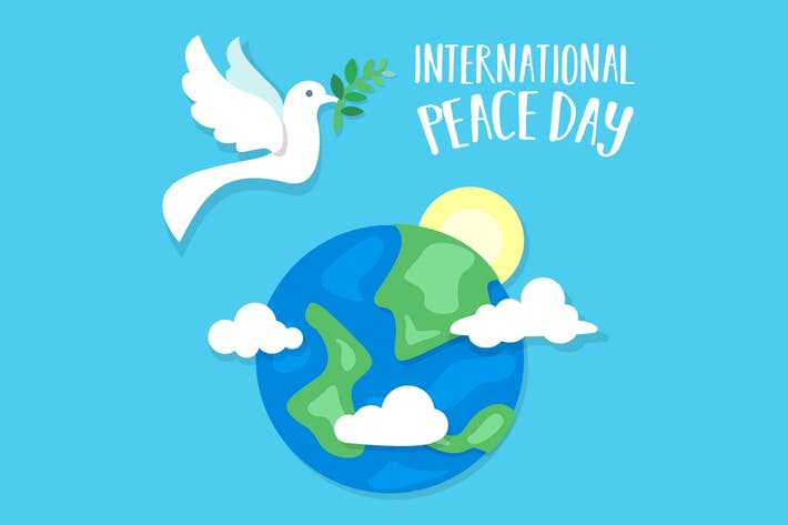 Thumbnail for International Peace Day Dove and Earth