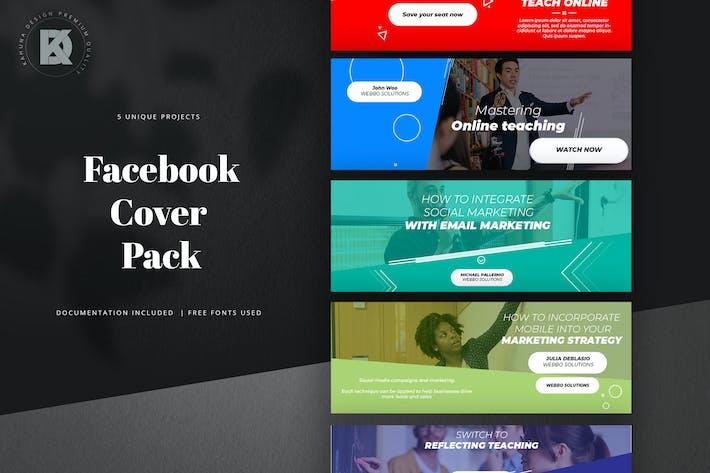 Thumbnail for Webinar Livestream Facebook Cover Pack