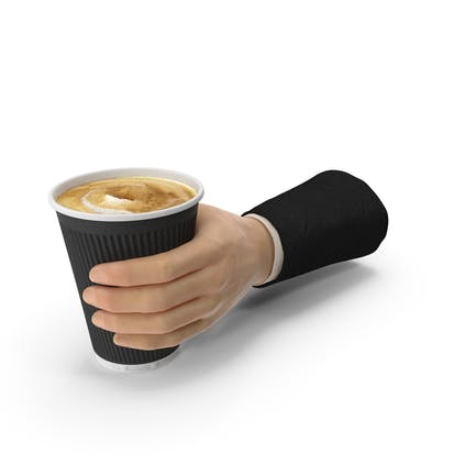 Suit Hand Holding a Coffee Cup