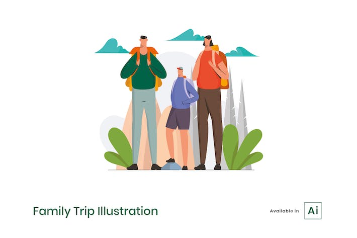 Thumbnail for Family Trip Illustration