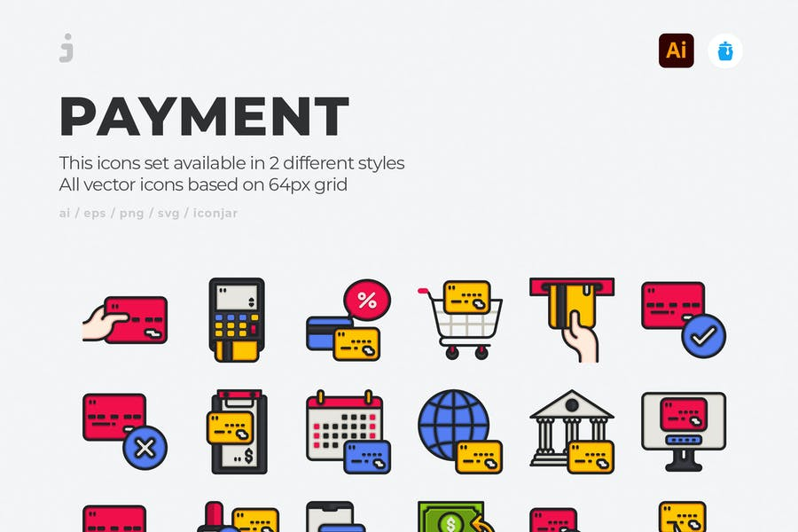 30 Card Payement Icons