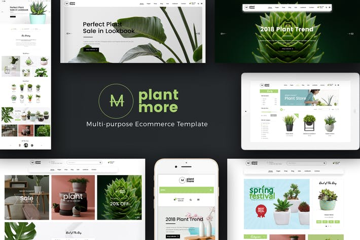 Thumbnail for Plantmore - Responsive WooCommerce WordPress Thema