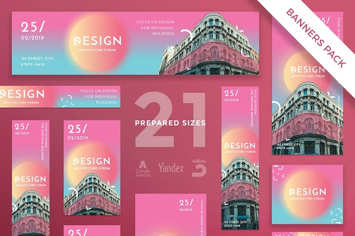 Thumbnail for Architecture Forum Banner Pack Template