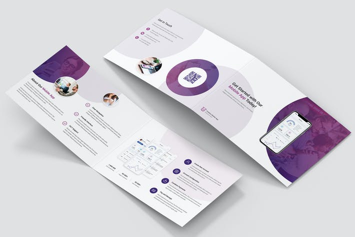 Thumbnail for Brochure – Creative App Bi-Fold A5 Landscape