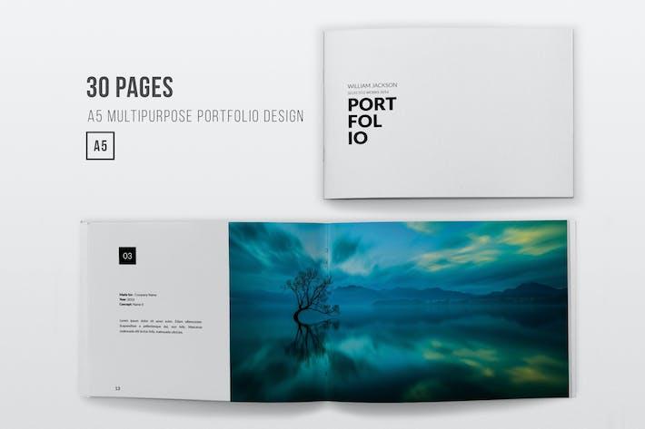 Cover Image For Horizontal Minimal Portfolio - 30 Pages