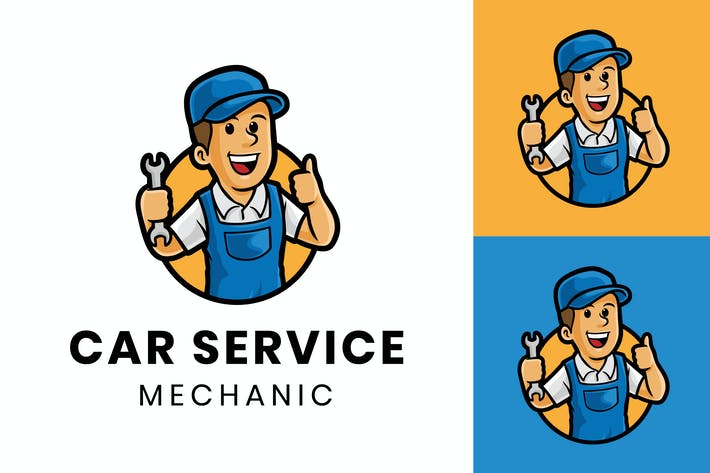 Thumbnail for Car Service Logo - Mascot