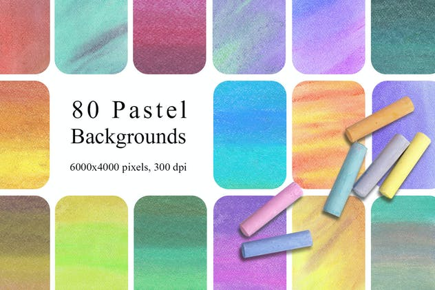 80 Rainbow Pastel Texture Backgrounds