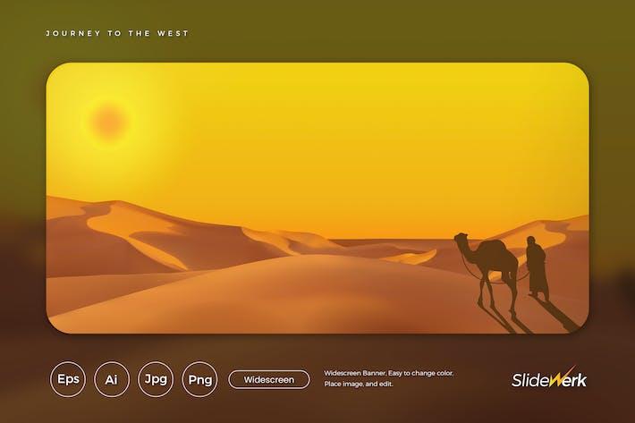 Thumbnail for Journey to desert Vector Illustration (GI)