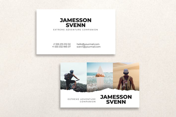Thumbnail for Photographer Business Card Design Professional