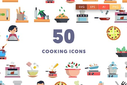 50 Cooking Icons