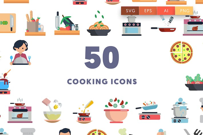 Thumbnail for 50 Cooking Icons