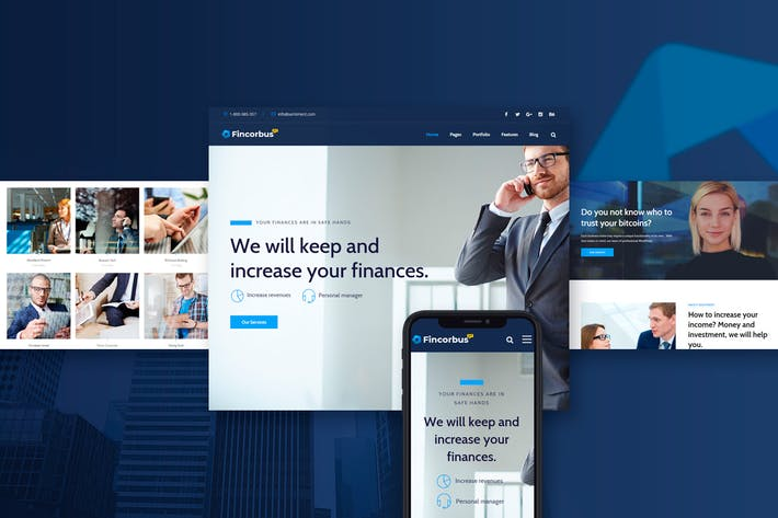 Thumbnail for Fincorbus - Finance Corporate WordPress Theme