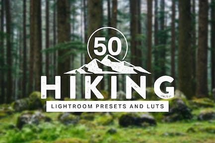 50 Hiking Lightroom Presets and LUTs