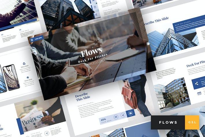 Thumbnail for Flows - Pitch Deck Google Slides Template
