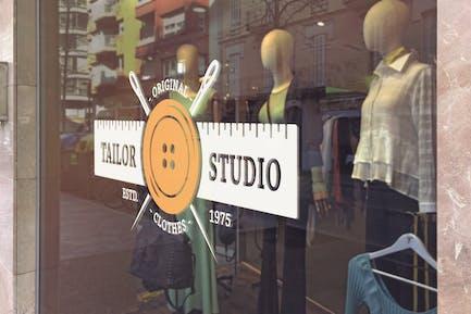 Boutique Glas-Mockup