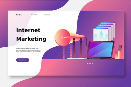 Internet Marketing - Banner & Landing Page