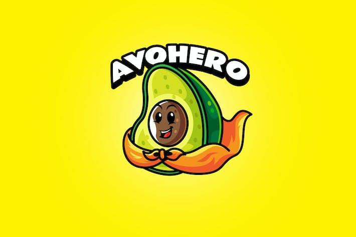 Avocado Hero - Mascot Logo