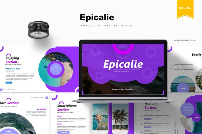 Thumbnail for Epicalie | Google Slides Template