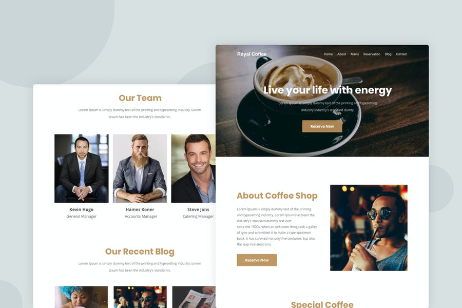 Royal Coffee - Email Newsletter