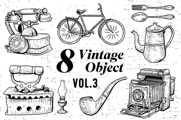 Thumbnail for 8 Vintage Object - Vol.3