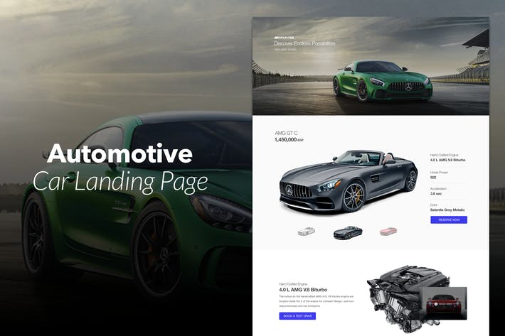 Thumbnail for Automotive - Car Landing Page