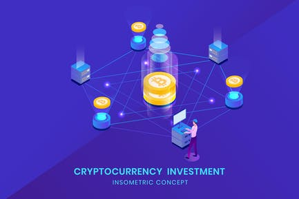 Cryptocurrency  Investment - Insometric Vector