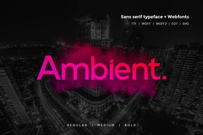 Thumbnail for Ambient - Modern Typeface + WebFonts
