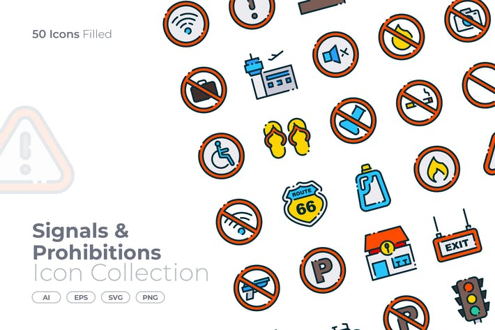 Signals and Prohibitions Filled Icon