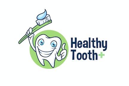 Healthy Tooth - Dental Character Mascot Logo