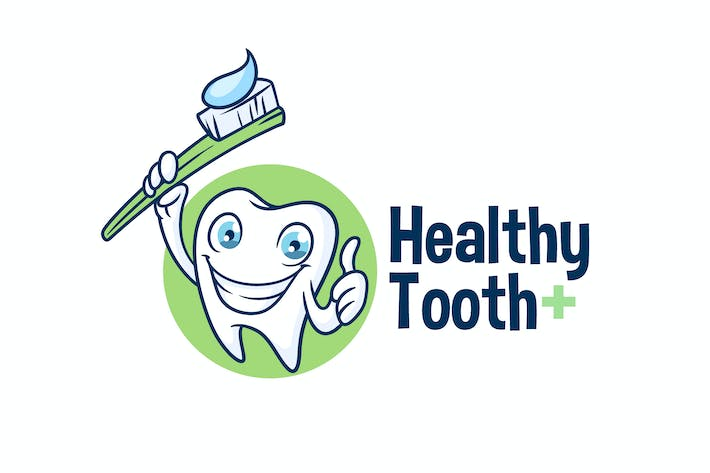 Thumbnail for Healthy Tooth - Dental Character Mascot Logo
