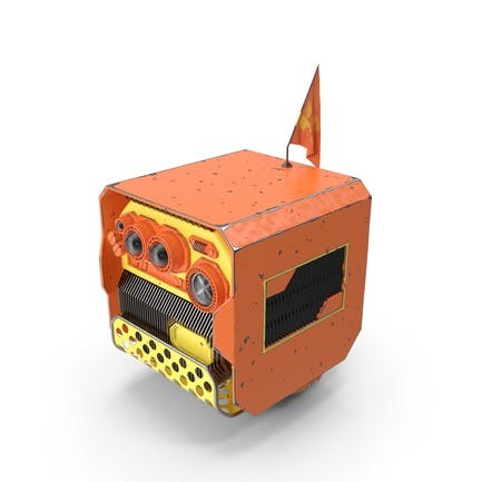 Cube Drone With Worn Hull