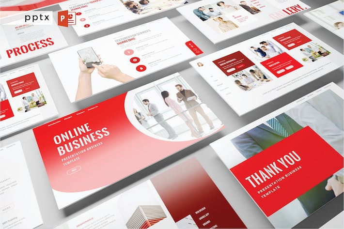Cover Image For ONLINE BUSINESS - Powerpoint V479
