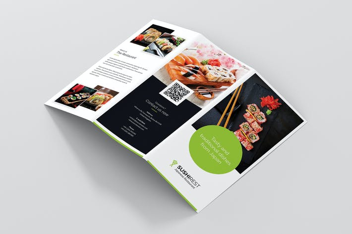 Thumbnail for Brochure — Restaurant à Sushi Tri-Fold